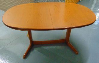 G-Plan extending oval teak dining table circa 1970, 195 x 99cm
