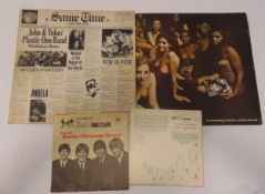 A quantity of vinyl to include an original Jimi Hendrix Experience Electric Ladyland, Beatles Fan
