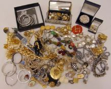A quantity of costume jewellery to include rings, watches, necklaces, earrings and bangles