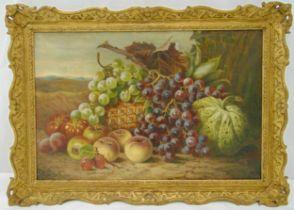 Thomas Hooper framed oil on canvas still life of fruits, signed bottom right, 35.5 x 53cm