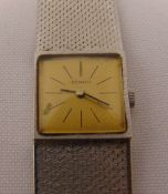 Zenith 18ct white gold ladies wristwatch with articulated bracelet, approx total weight 54.9g