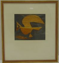 Stanley Pinker framed and glazed mixed media abstract, signed bottom left, 25 x 30cm ARR applies