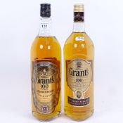 2 x one litre bottle of William Grants 100 Proof 50% Scotch Whisky (2 bottles)