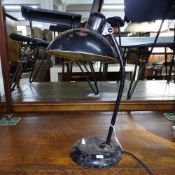 An original Bauhaus Kaiser Idell 6556 desk lamp, by Christian Dell, with maker's marks