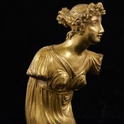 A 19th century gilt-bronze Classical figure of a woman, unsigned, height 13cm Gilding is lightly