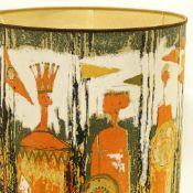 "TIBOR REICH (1916-96), BRITISH, an ""Age of Kings"" fabric design lampshade, 1964, diameter 46cm,"