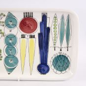 "MARRIANNE WESTMAN FOR RORSTRAND, SWEDEN, ""Picknick"" design large serving dish, length 42cm. Good"