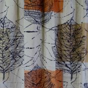 """LUCIENNE DAY FOR HEALS, a """"Linden"""" pattern fabric / curtain panel circa 1960, length 140cm x 107"""