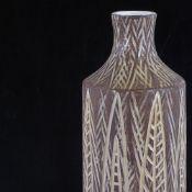 "MARI SIMMULSON FOR UPPSALA EKEBY, SWEDEN, ""Senegal"" ceramic vase designed 1957 with incised leaf"