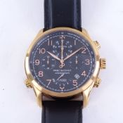 BULOVA - a rose gold plated stainless steel Precisionist quartz chronograph wristwatch, ref. 97B122,