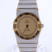 OMEGA - a lady's Vintage stainless steel and gold Constellation quartz wristwatch, ref. 795.1080.
