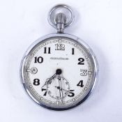 JAEGER LECOULTRE - a Second World War Period nickel-cased Military issue RAF Observer's open-face
