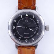 CHRISTOPHER WARD - a stainless steel C5 Malvern Aviator automatic wristwatch, circa 2007, black dial
