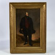 Richard Ansdell (1815 - 1885), oil on canvas, portrait of James Aspinall, unsigned, old labels and