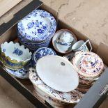 Victorian Coalport and Spode dinnerware, Oriental tea bowls, ginger jar etc