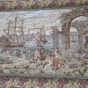 Lorna Maton, Hammersmith College of Art, machine-embroidered panel, and a machine tapestry wall