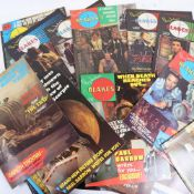 A quantity of Terry Nations Blakes Seven Marvel monthly comic books, and a letter of rejection