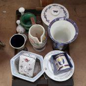 Various ceramics, including large Carlton Ware vase, Art Deco Delcroft Ware jug, Beswick 991