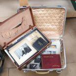 2 suitcases of mid-century ephemera, including Andrew Alexander items, family photographs,