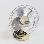 A Vintage retro Veritys Limit electric table fan, serial no. C1I169, height 33cm