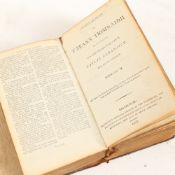 An early 19th century Scottish Gaelic Bible, 1807, leather-bound with handwritten notes, printed