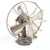 An early 20th century Austrian Monso cast-iron electric table ventilator van, with aluminium blade