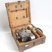 A Vintage Setright Fare Register railway ticket machine, model R.54, boxed, with various ticket