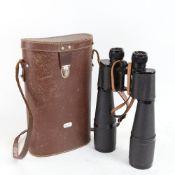 A pair of Lieberman & Gortz 35x60 binoculars, cased