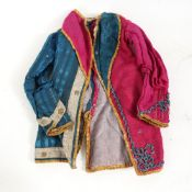 An Antique hand stitched and embroidered miniature jacket, possibly for a performing monkey,