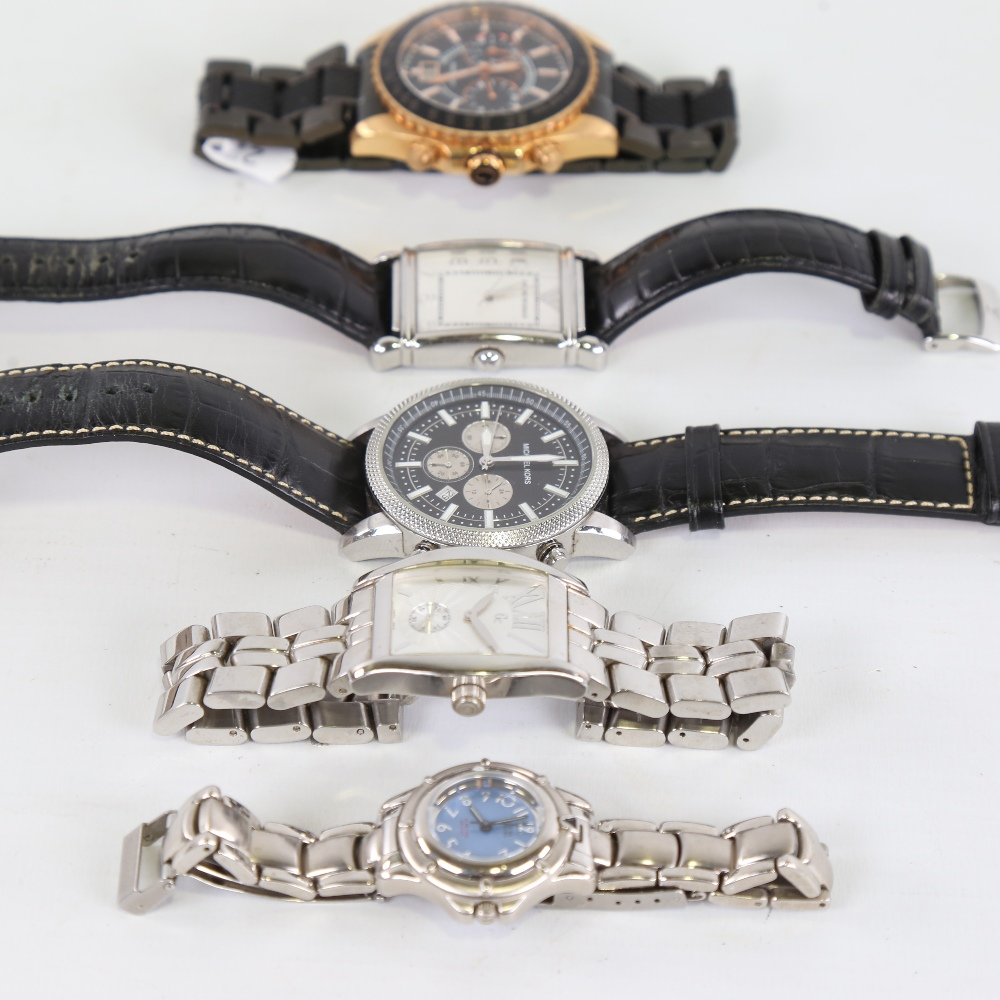 5 modern designer quartz wristwatches, including GC, Michael Kors, Guess and Emporio Armani, only - Image 4 of 5