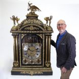 A spectacular 19th century quarter chiming English Exhibition table clock with automata,