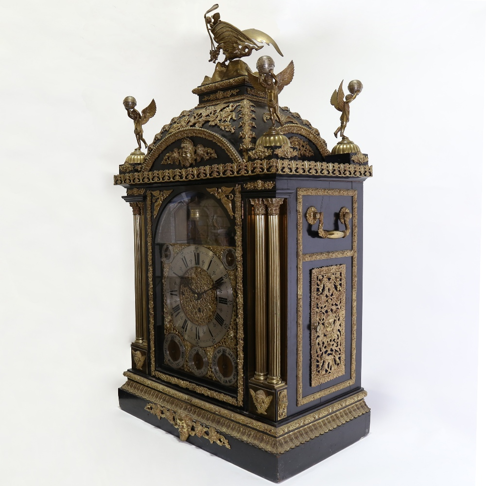 A spectacular 19th century quarter chiming English Exhibition table clock with automata, - Image 4 of 51