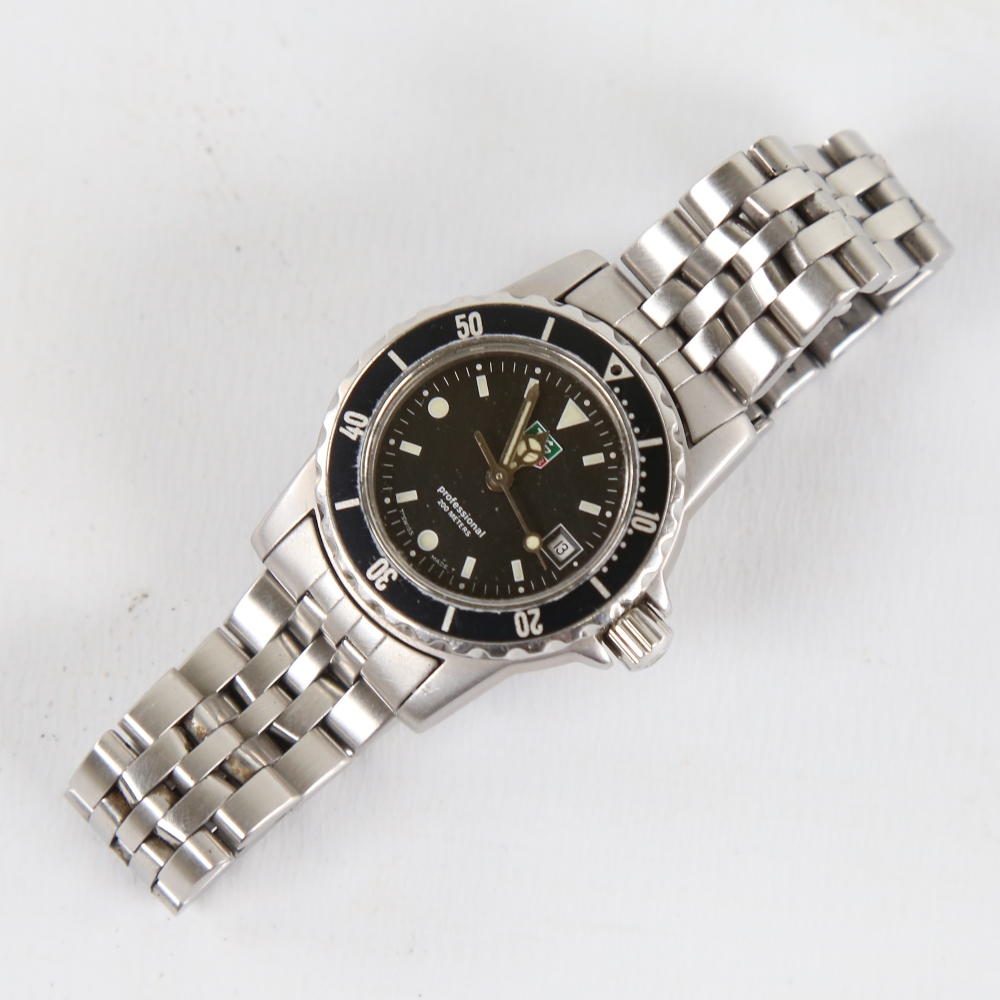 TAG HEUER - a lady's stainless steel 1500 Series Professional 200m quartz wristwatch, ref. WD1410- - Image 2 of 5