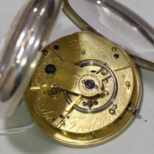 A 19th century silver-cased open-face keywind Marine Chronometer deck pocket watch, by John Frodsham - Image 8 of 14