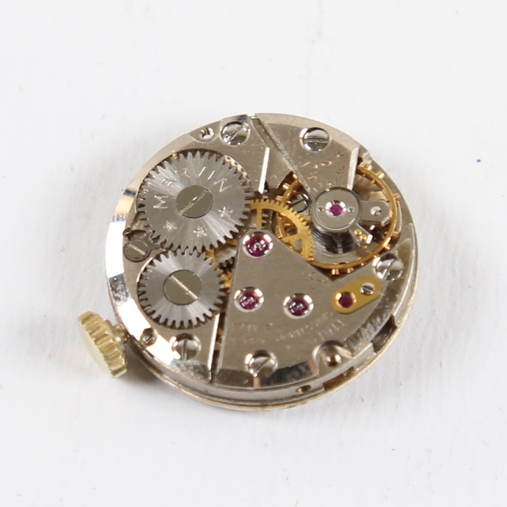 2 Vintage wristwatch movements, including Marvin and Audax, Audax working (2) Marvin in good overall - Image 3 of 5