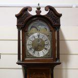 A 19th century mahogany and satinwood inlaid 8-day chiming longcase clock, dial signed John Hallifax