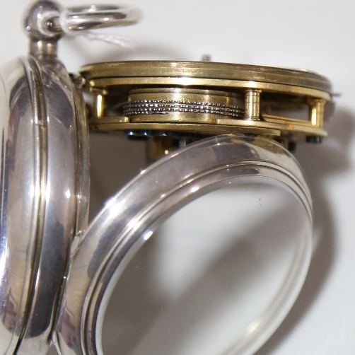 A 19th century silver-cased open-face keywind Marine Chronometer deck pocket watch, by Frodsham of - Image 10 of 12