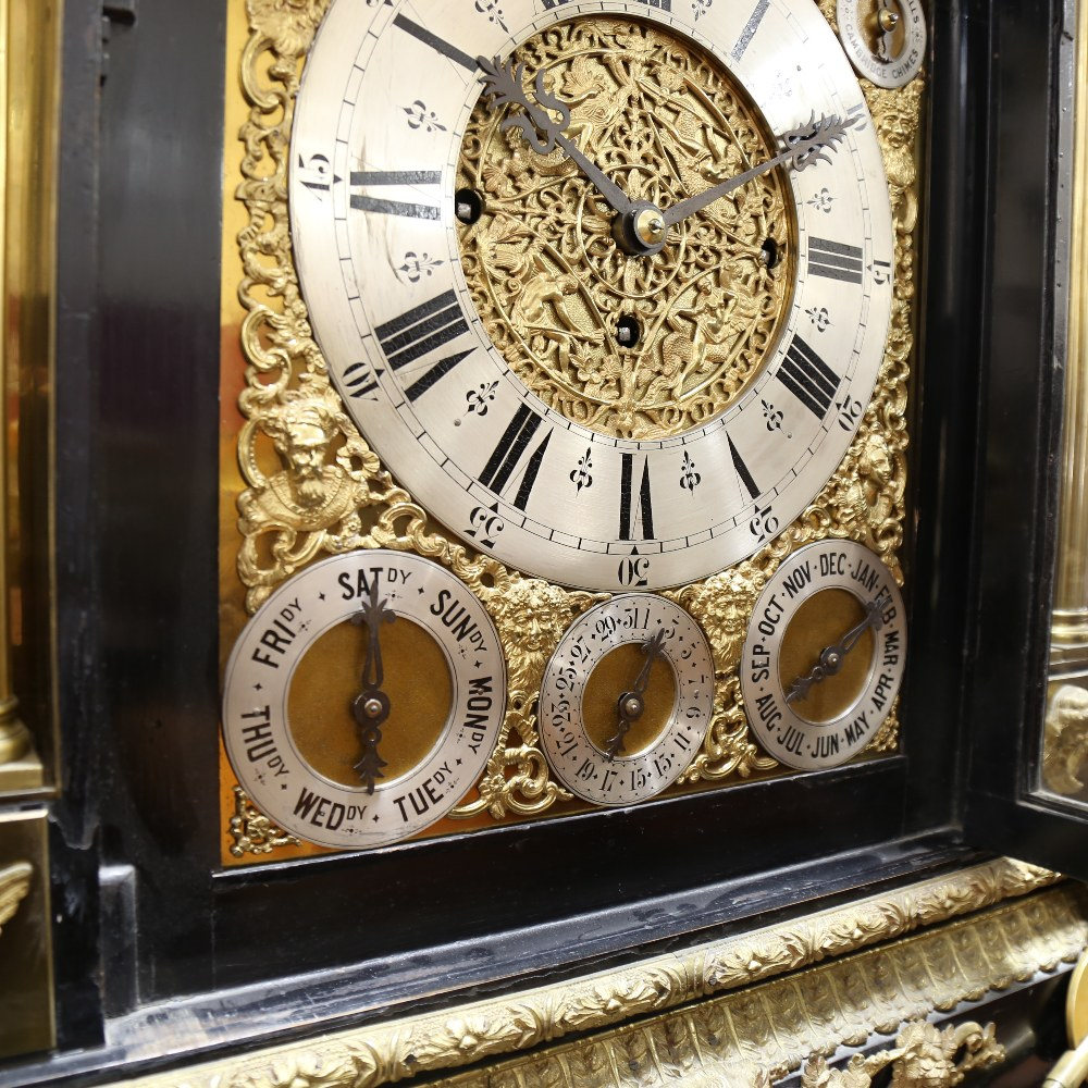 A spectacular 19th century quarter chiming English Exhibition table clock with automata, - Image 34 of 51