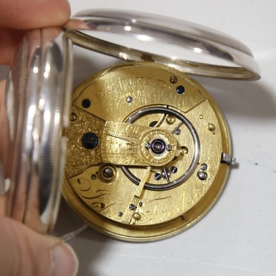 A 19th century silver-cased open-face keywind Marine Chronometer deck pocket watch, by John Frodsham - Image 6 of 14