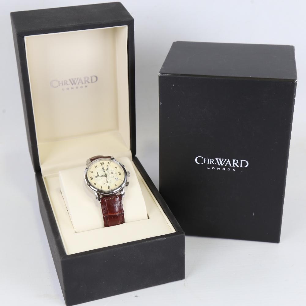 CHRISTOPHER WARD - a stainless steel C3 Malvern quartz chronograph wristwatch, ref. C3SWT, circa - Image 5 of 5