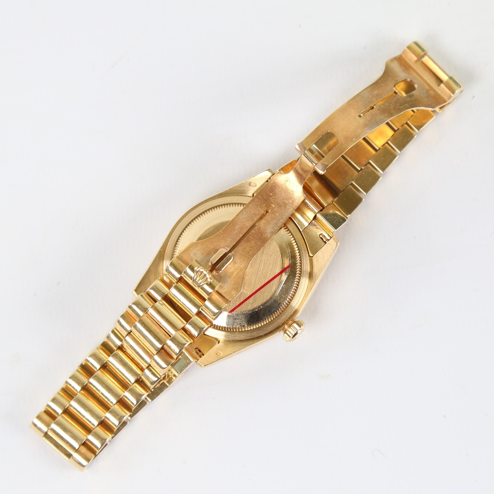 ROLEX - an 18ct gold Oyster Perpetual Day-Date automatic wristwatch, ref. 118238, circa 2001, - Image 3 of 5
