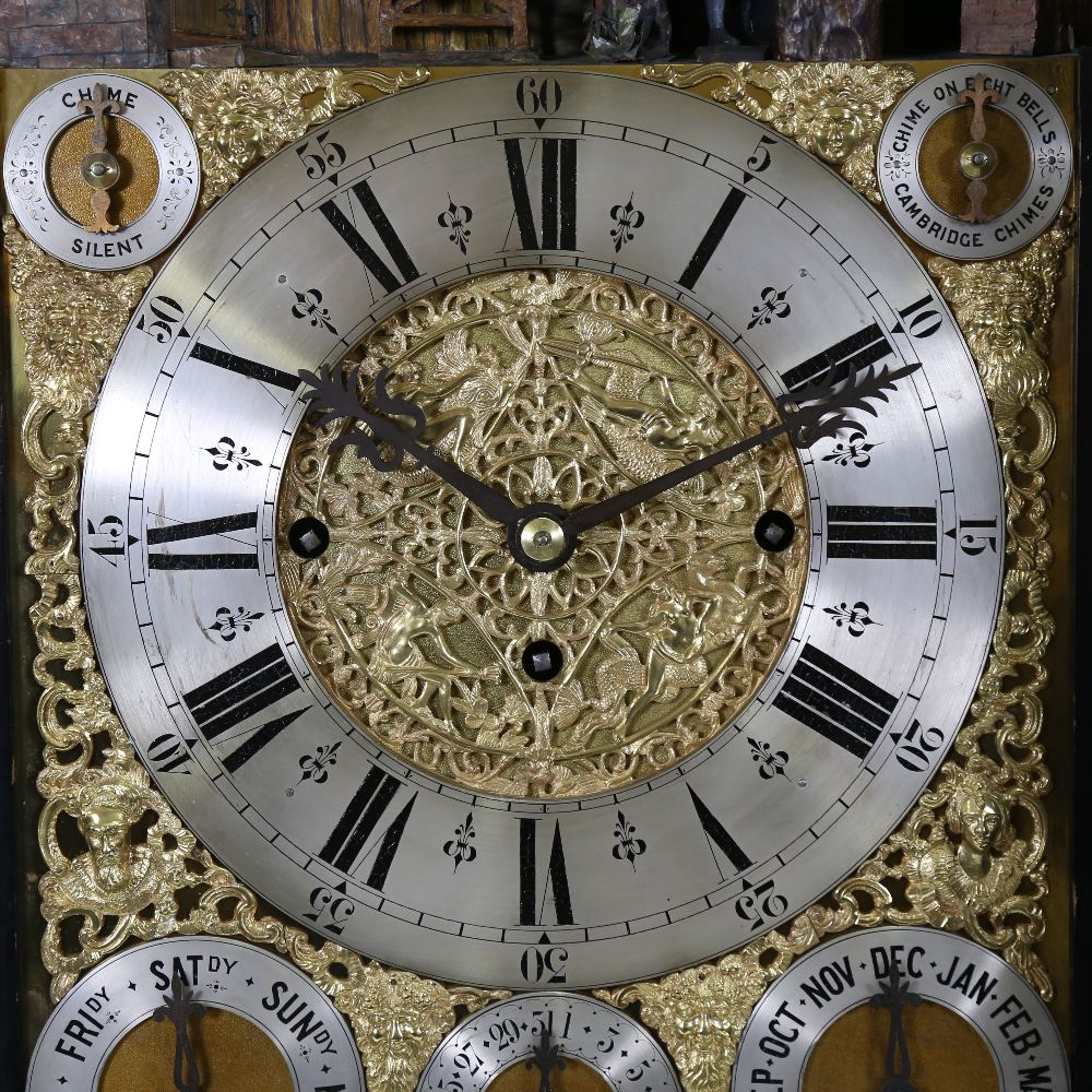 A spectacular 19th century quarter chiming English Exhibition table clock with automata, - Image 12 of 51