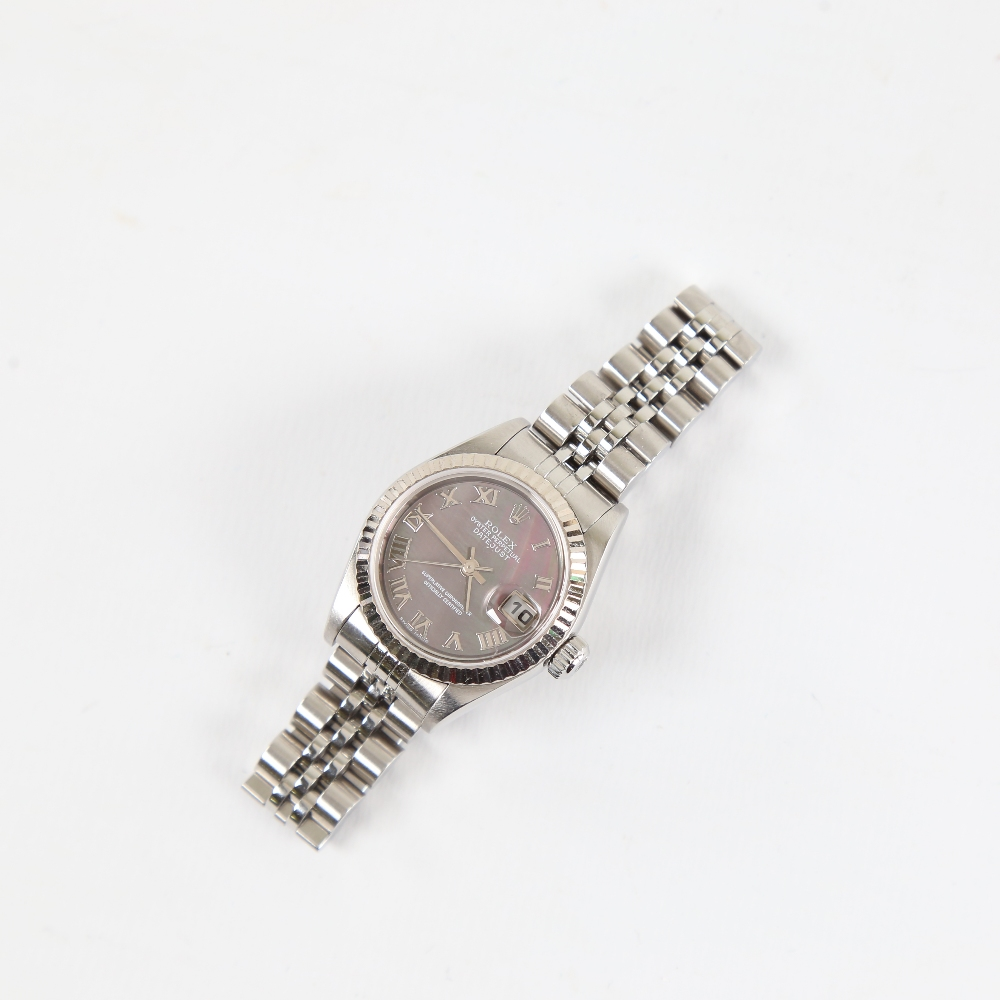 ROLEX - a lady's stainless steel Oyster Perpetual Datejust automatic wristwatch, ref. 79174, circa - Image 2 of 5