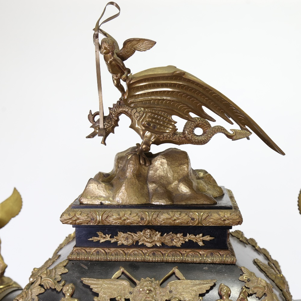 A spectacular 19th century quarter chiming English Exhibition table clock with automata, - Image 39 of 51