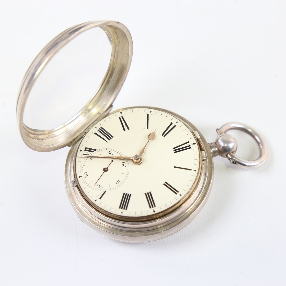 A 19th century silver-cased open-face keywind Marine Chronometer deck pocket watch, by Frodsham of - Image 3 of 12