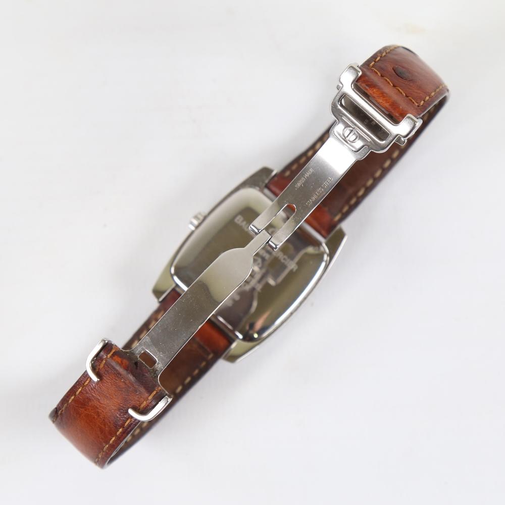 BAUME & MERCIER - a stainless steel Hampton automatic wristwatch, ref. MV045159, circa 1998, tonneau - Image 3 of 5