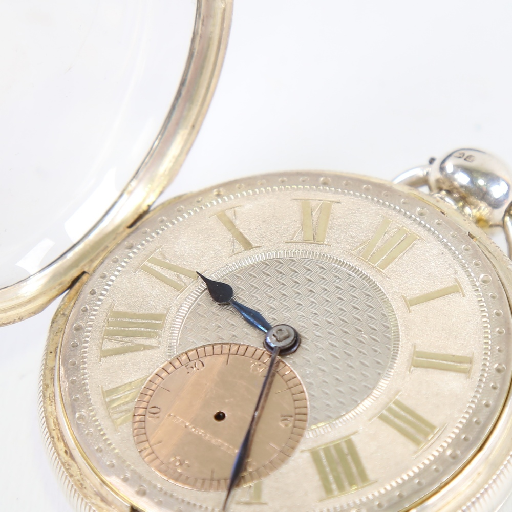 A 19th century silver-cased open-face keywind Marine Chronometer deck pocket watch, by John Frodsham - Image 4 of 14