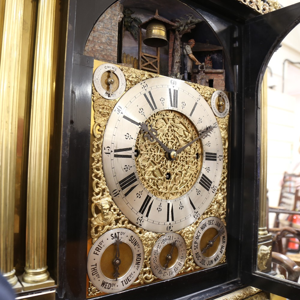 A spectacular 19th century quarter chiming English Exhibition table clock with automata, - Image 36 of 51