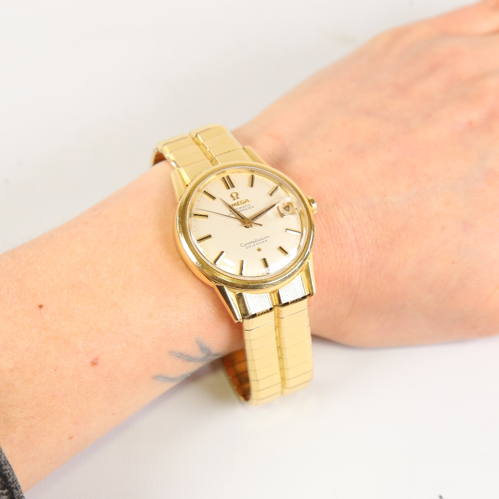 OMEGA - a Vintage 18ct gold Constellation Calendar automatic chronometer wristwatch, ref. 886, circa - Image 5 of 5