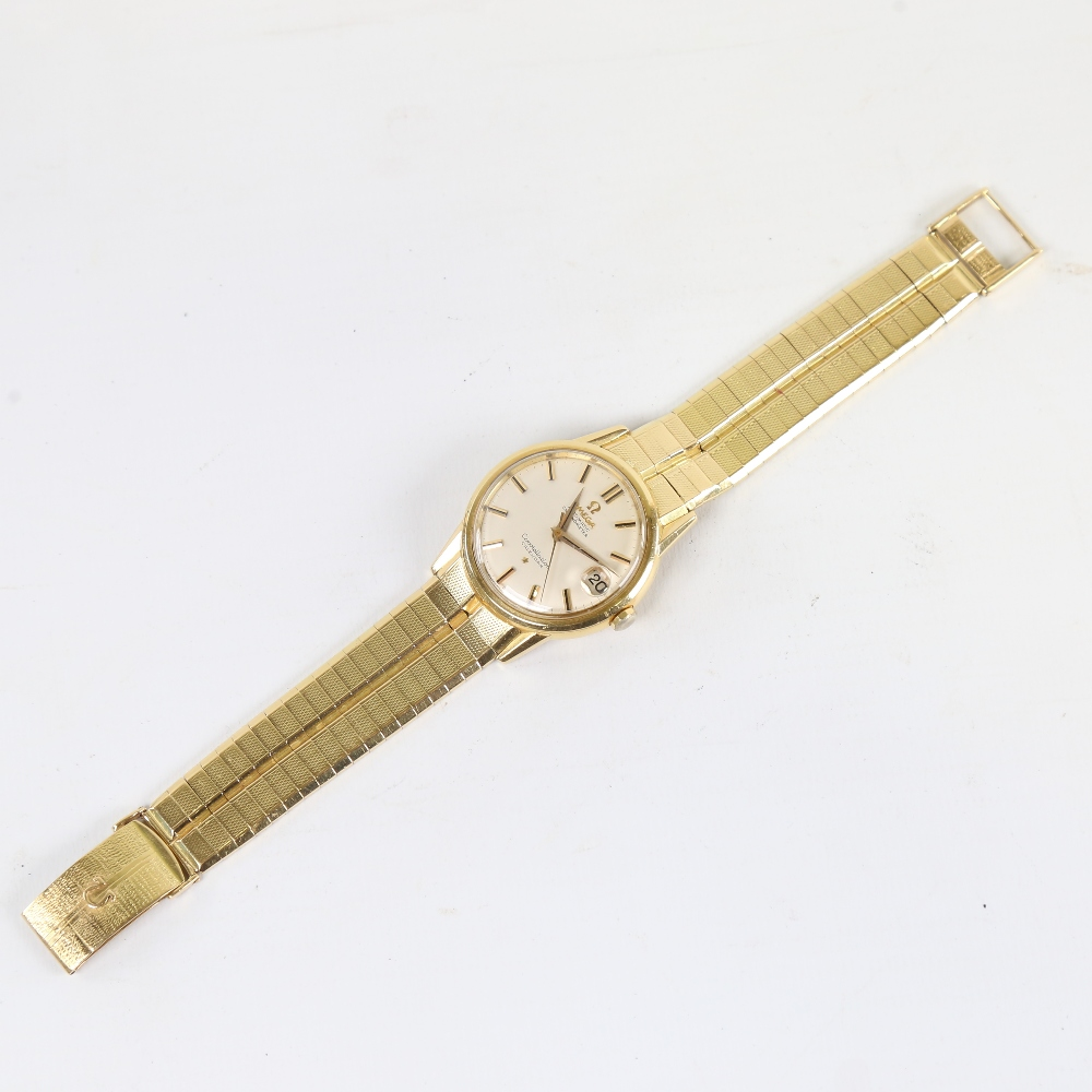 OMEGA - a Vintage 18ct gold Constellation Calendar automatic chronometer wristwatch, ref. 886, circa - Image 2 of 5